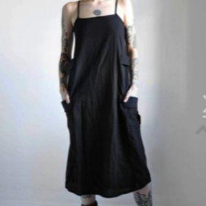 NWOT NOCTEX Linen Cargo Dress